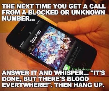 blocked number?