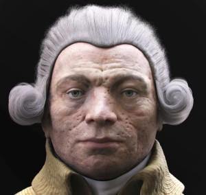 face marked by smallpox