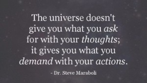 not thoughts, actions