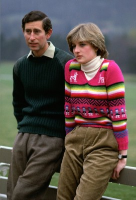 Prince Charles, Prince of Wales with his fiance Lady Diana S