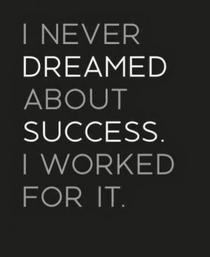 dreaming about vs making it happen