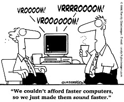 pretense fast computer, pretense high iq