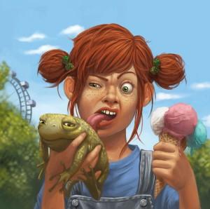 astute? frog or ice cream choose