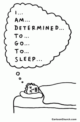 insomnia forcing to sleep