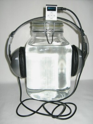how to infuse the audios' energies into water