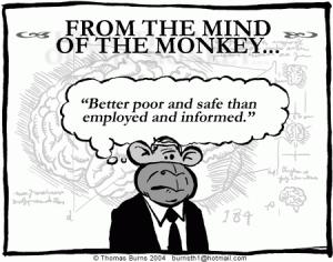 the monkey mind won't shut up