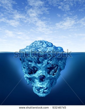 stock-photo-hidden-dangers-with-a-deceptive-hazardous-iceberg-in-cold-arctic-water-with-a-small-part-of-the-93246745