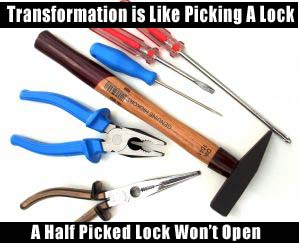 transformation is like picking a lock. here are our tools to raise your vibration