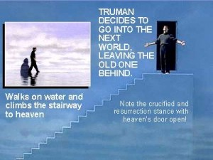 truman show comparison with Jesus
