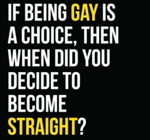 chose to be straight