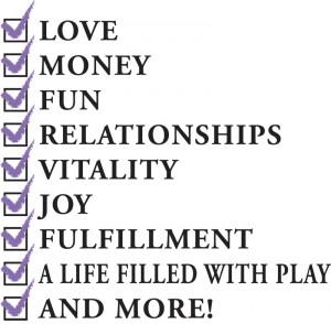 wholistic abundance checklist